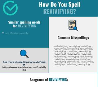 Correct spelling for revivifying