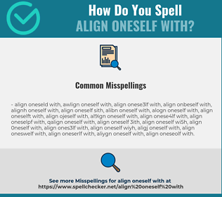 Correct spelling for align oneself with