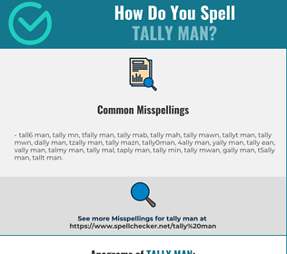 Correct spelling for tally man