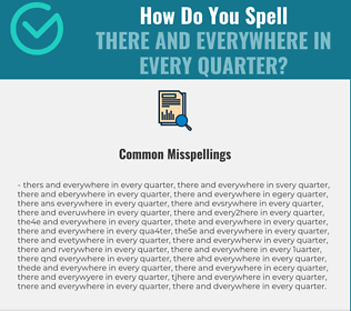 Correct spelling for there and everywhere in every quarter
