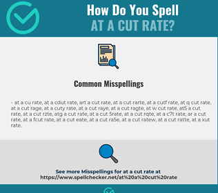 Correct spelling for at a cut rate