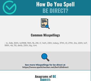 Correct spelling for be direct