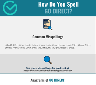Correct spelling for go direct