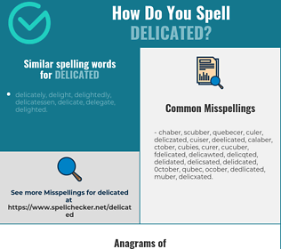 Correct spelling for delicated