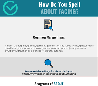 Correct spelling for about facing