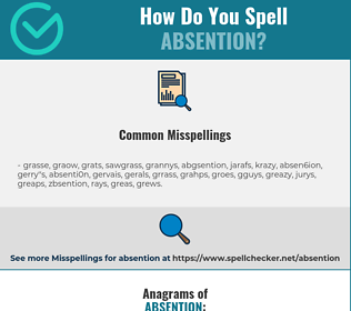 Correct spelling for absention