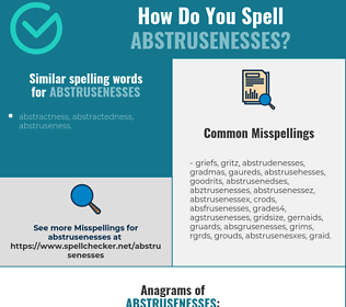 Correct spelling for abstrusenesses