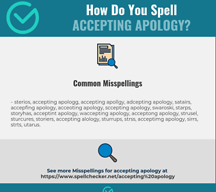 Correct spelling for accepting apology