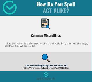 Correct spelling for act-alike
