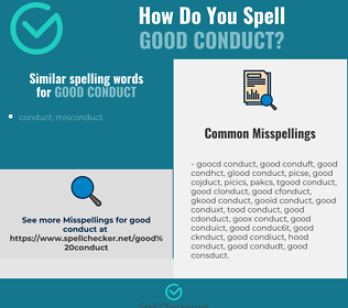 Correct spelling for good conduct