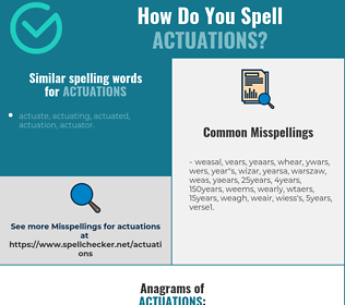Correct spelling for actuations