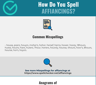 Correct spelling for affiancings