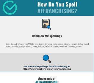 Correct spelling for affranchising