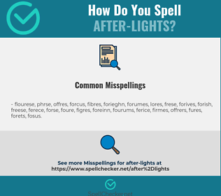 Correct spelling for after-lights