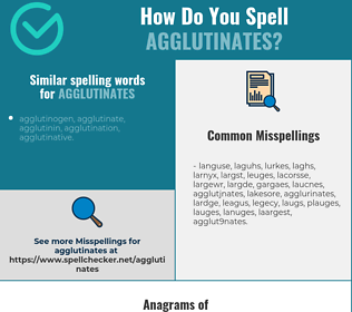 Correct spelling for agglutinates