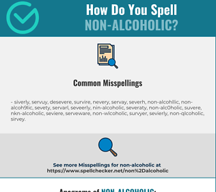 Correct spelling for non-alcoholic