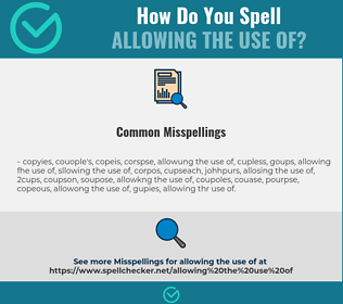 Correct spelling for allowing the use of