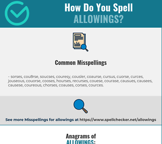 Correct spelling for allowings