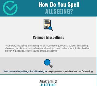 Correct spelling for allseeing