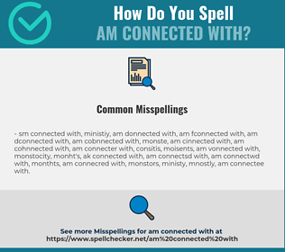 Correct spelling for am connected with