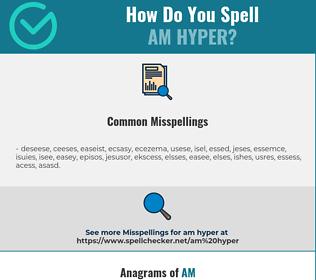 Correct spelling for am hyper