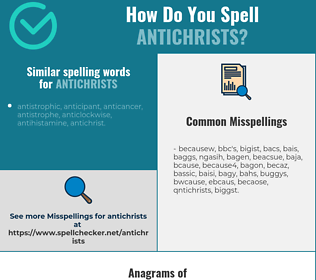 Correct spelling for antichrists