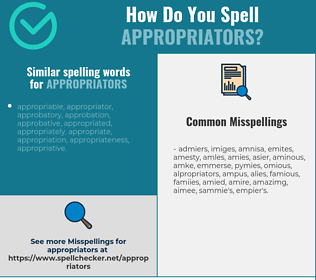 Correct spelling for appropriators
