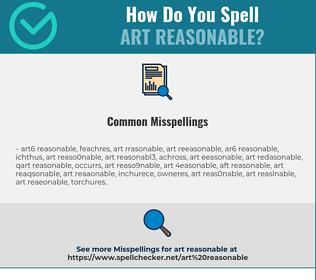 Correct spelling for art reasonable