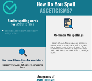 Correct spelling for asceticisms