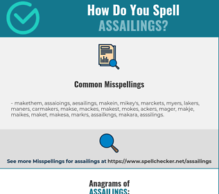 Correct spelling for assailings
