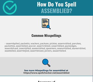 Correct spelling for assemblied
