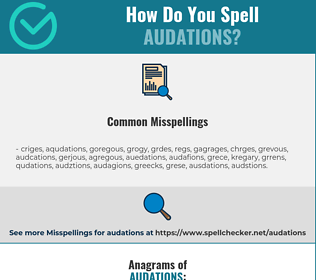Correct spelling for audations
