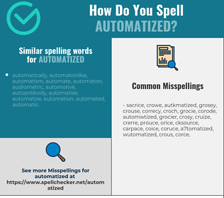 Correct spelling for automatized