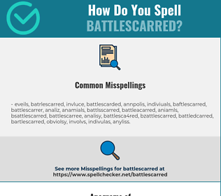 Correct spelling for battlescarred
