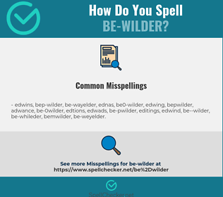 Correct spelling for be-wilder