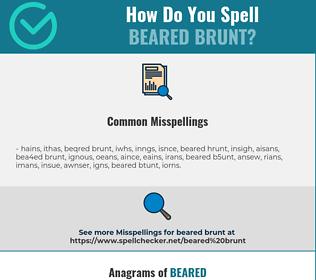 Correct spelling for beared brunt