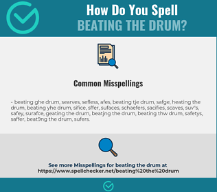 Correct spelling for beating the drum