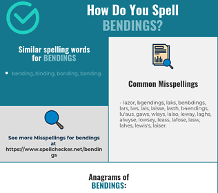 Correct spelling for bendings
