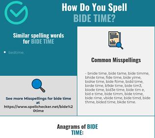 Correct spelling for bide time