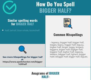 Correct spelling for bigger half