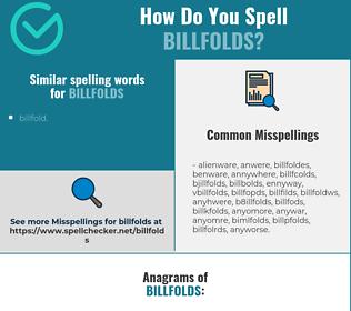 Correct spelling for billfolds