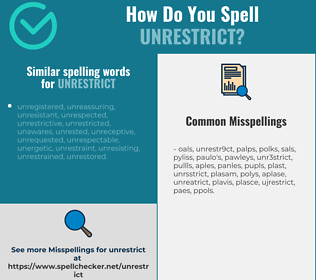 Correct spelling for unrestrict