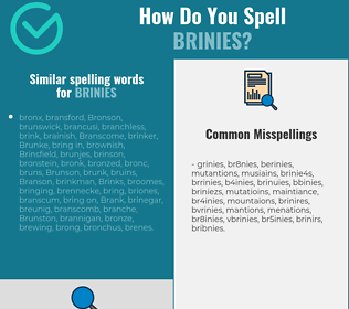 Correct spelling for brinies