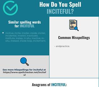 Correct spelling for inciteful
