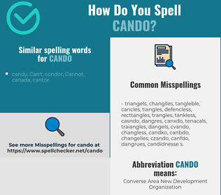 Correct spelling for cando
