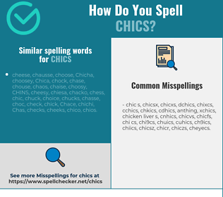 Correct spelling for chics