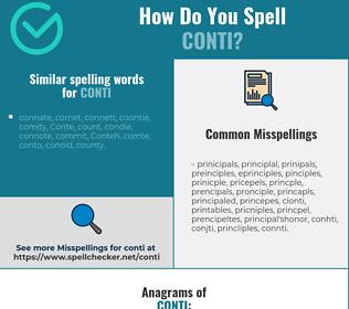 Correct spelling for conti