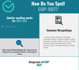 Correct spelling for cop-out