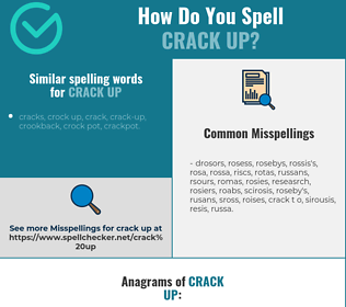 Correct spelling for crack up