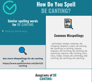 Correct spelling for de canting